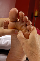 spa reflexology foot massage