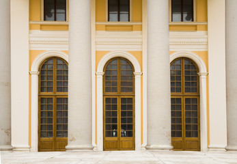 classical porticos with columns.