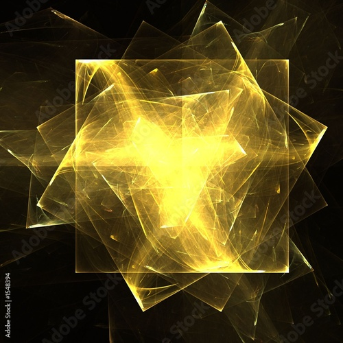 abstract golden plates