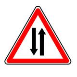 danger double voie poster