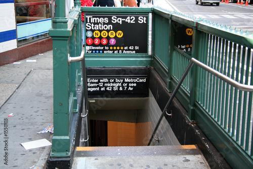 Leinwandbild Motiv new york subway station