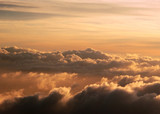 high altitude cloudscape poster