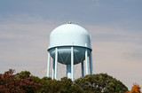 water tower with clear face poster