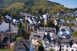 panorama der stadt, cochem, deutschland poster