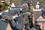 panorama der stadt cochem, deutschland poster