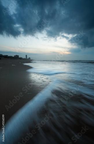 Leinwanddruck Bild ocean at night