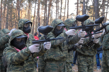 beginning of game in paintball.