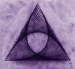 triangle teinte mauve