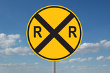 railroad crossing warning poster