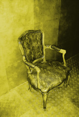 fauteuil jaune or
