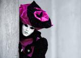 purple venetian mask poster