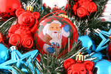 santa claus decorations poster