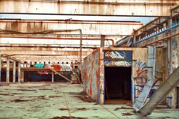 usine abandonnée de l'intérieur