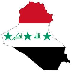 carte drapeau de l' irak