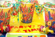 party time banners and paper party cups