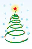 spiral christmas tree poster