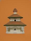 elegant birdhouse poster