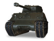 m4 sherman tank on white