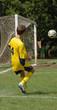 Quadro boy playing soccer