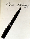 dear diary blank page poster