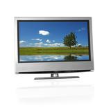 rural landscape on flat screen tv poster