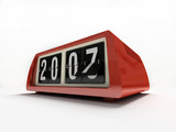 red watch - counter on white background new year poster