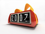 red watch - counter on white background new year gift poster