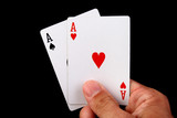 two aces hand poster
