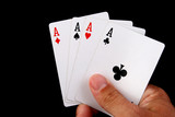 four aces hand poster