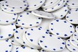 white poker chips poster