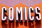 comic sign poster
