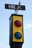hollywood traffic signal poster