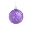 violet christmas ball poster