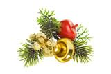 decorated fir branch poster