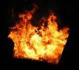 burning tank poster
