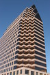 stylish building with a triangular top