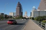 Fototapety congress avenue at the bat bridge in austin, texas