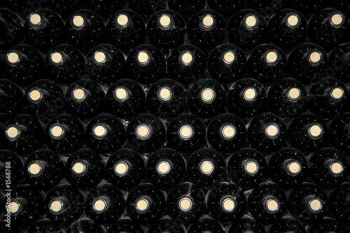 Poster, Tablou background of wine bottles