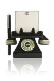 telephone with notepad and pen poster