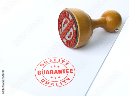 guarantee rubber stamp