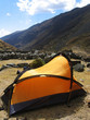 yellow tent in the cordillera