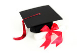 graduation cap and diploma poster