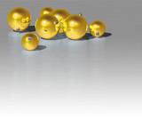 Fototapety christmas gold ball