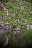 mountain lake in norway poster