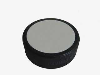 blank face hockey puck