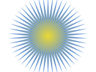 blue and yellow sun