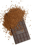 chocolate and coffee granules poster
