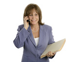 relaxed efficient businesswoman poster