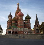st. basil cathedral in moscow, russia poster