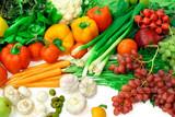 vegetables and fruits arrangement 3 poster